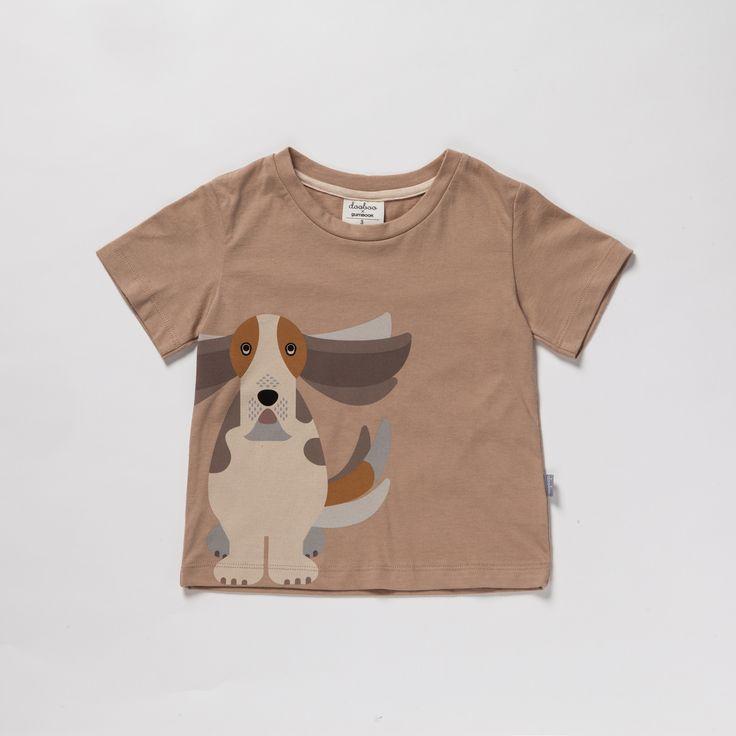 Maglietta Bassethound - Dooboo - Kids - Shop online www.mirtilla.eu