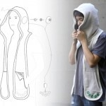 """Beagle Scarf, a garment co-created with autistic children and their parents. Beagle Scarf integrates sound, smell, and texture, making it a wearable and portable medical assistance device for Autistic children who suffer from a sensory disorder where they sometimes need to be blocked or stimulated from certain senses to feel relieved,"""""""