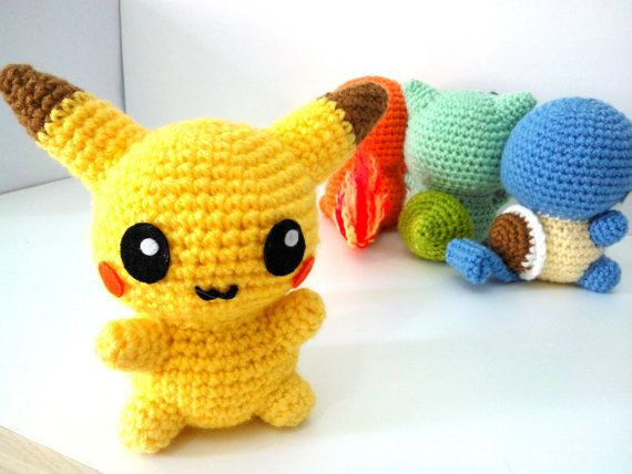 Amigurumi Free Patterns Bunny : AMIGURUMI PIKACHU - PDF Pattern Instant Download Hooks ...