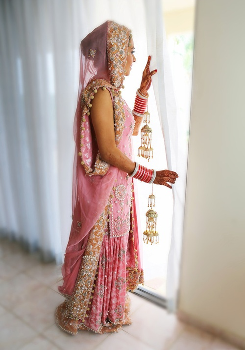 lovely shade of pink for the bride