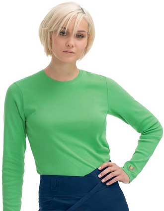 Style Code: (UR-9535)  This is a tee that works as hard as you do, day in and day out. It features a long sleeve, crew neck tee with Urbane daisy logo at bottom of left sleeve.