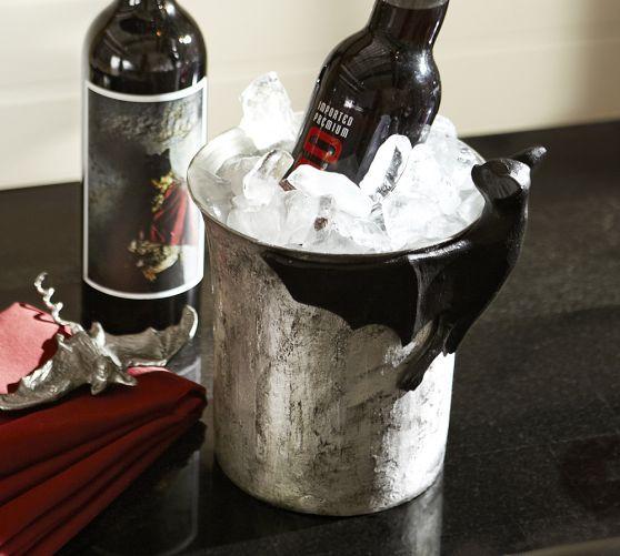 bat ice bucket pottery barn halloween cool spooky pinterest ice ice buckets and. Black Bedroom Furniture Sets. Home Design Ideas