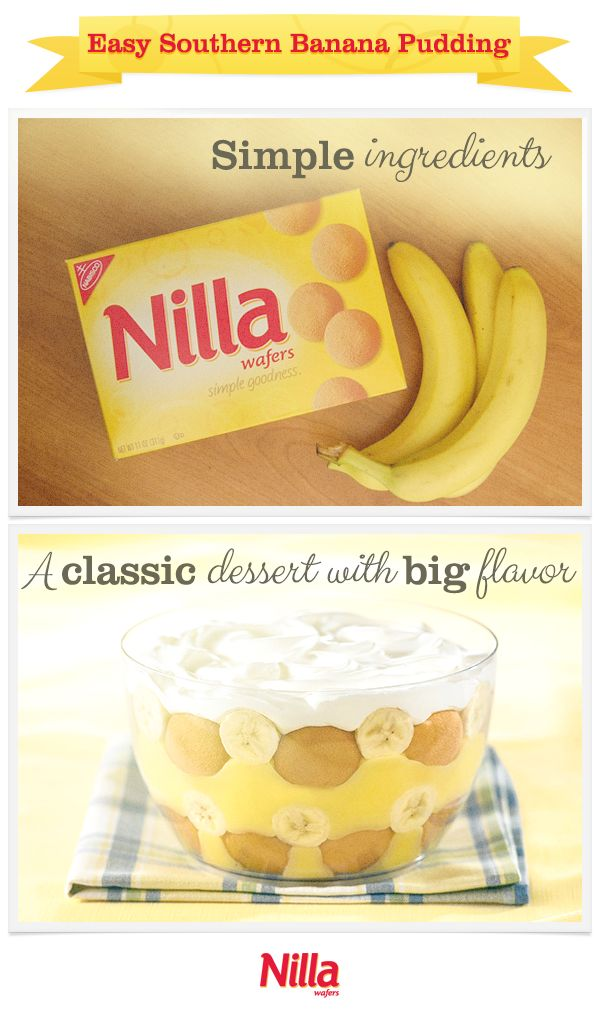 A recipe has never sounded sweeter: Easy Southern Banana Pudding. Repin for a classic fave!