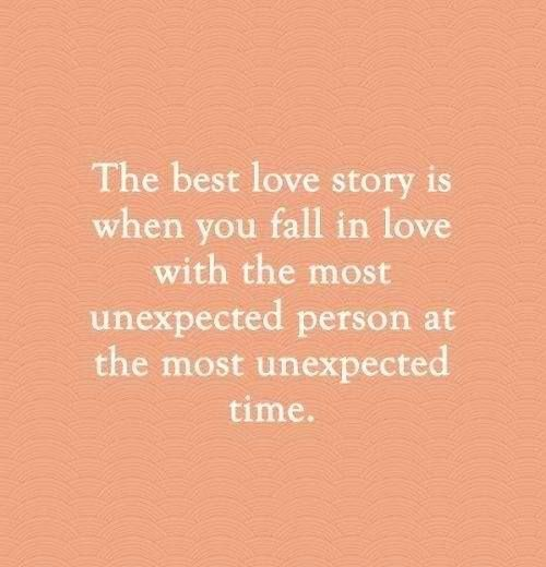 The best love story... we both took risks to be together.... And turns out it was more then worth it!