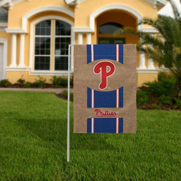 "Philadelphia Phillies 18"" x 12"" Burlap Garden Flag - $14.99"