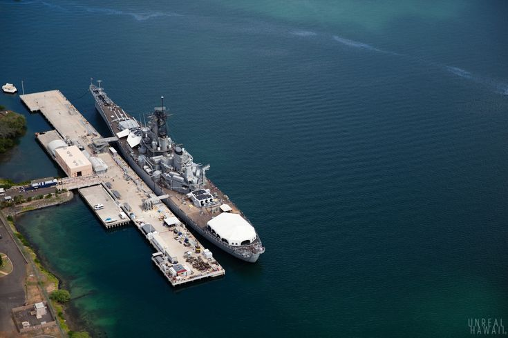 Pearl Harbor Memorial - USS Missouri Battleship, Oahu, Hawaii.
