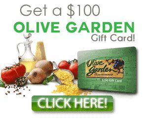 Olive Garden $100 GiftCard Enjoy A Delicious Dinner With $100 Olive Garden  Gift Card Do You
