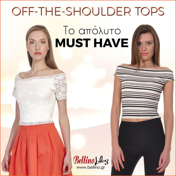 Το σημερινό μας blog είναι αφιερωμένο στην απόλυτη τάση του καλοκαιριού, τα off-the-shoulder tops! Enjoy! http://bellino.gr/blog/shoulder-tops #BellinoBlog #BellinoStyle #BellinoFashion
