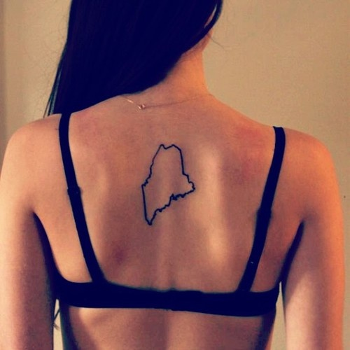 My first tattoo of my home state...i'm in love