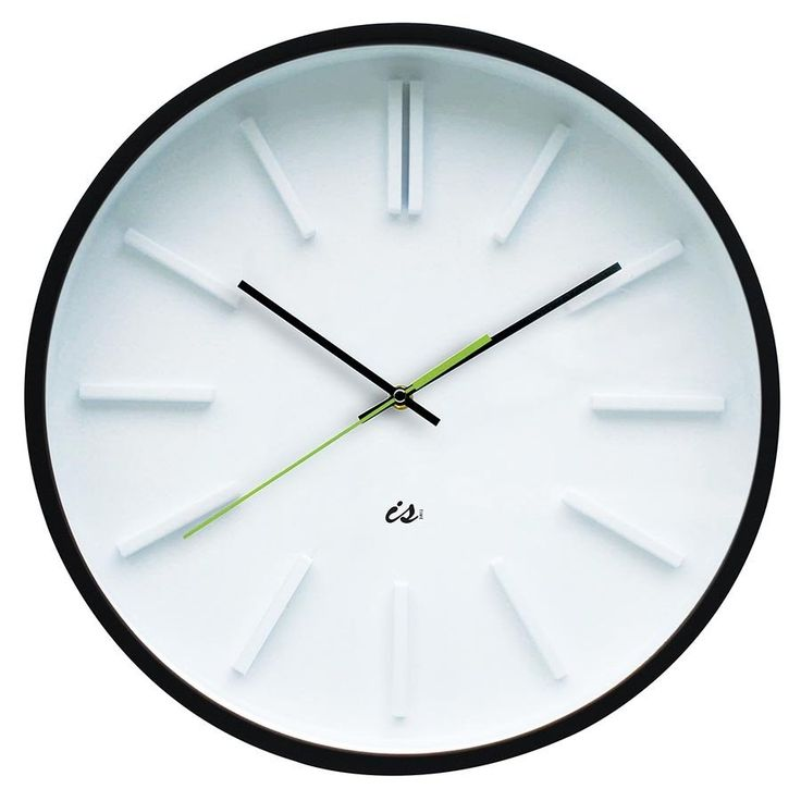 Is Time 40cm Wall Clock Station Wood - Lime Second Hand