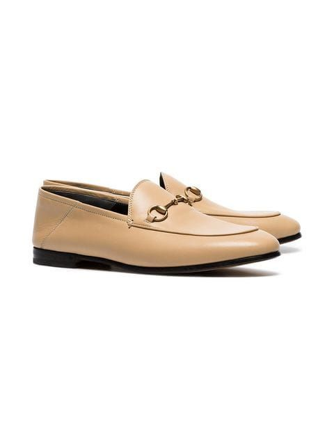 202af6d06 Gucci Beige Brixton Leather Loafers in 2019 | The Imelda Marcos In ...
