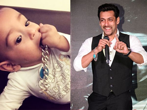 Arpita Khan has recently shared pictures of her son Ahil playing with Salman Khan's bracelet.