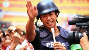Daijiro Enami, a journalist from Japan who idolized the protesters in thailand