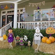 kid friendly halloween decorations friendly ghosts jack o lanterns - Kid Friendly Halloween Decorations