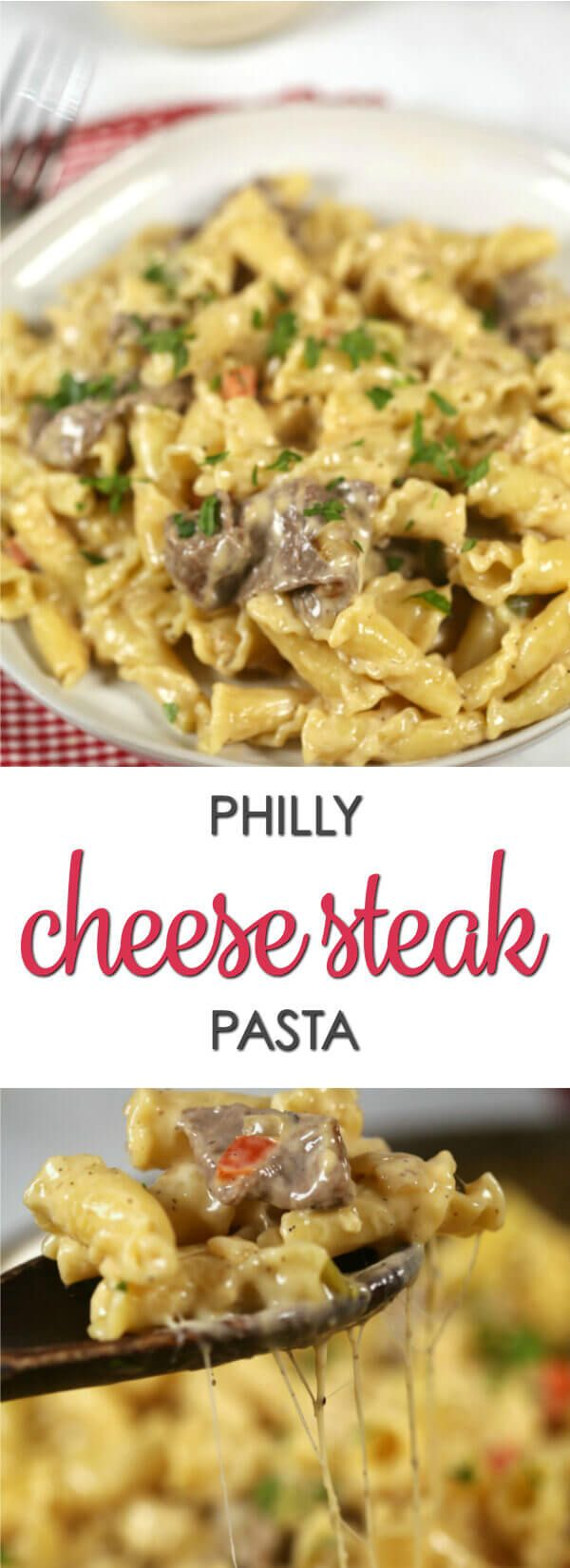 This recipe is a fun twist on the best Philly Cheese Steak recipe.It's easy to make and incredibly delicious. You have to try this Philly Cheese Steak Pasta. via @itsakeeperblog
