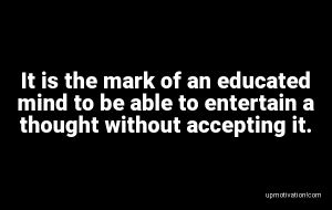 It is the mark of an educated image