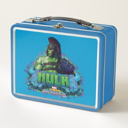 Thor: Ragnarok | Gladiator Hulk Character Graphic Metal Lunch Box - diy cyo customize create your own #personalize
