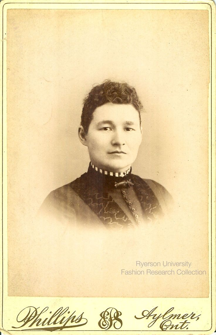 Headshot of woman. Photographed by E.S. Phillips of Aylmer, Ontario. FRC 2002.04.279