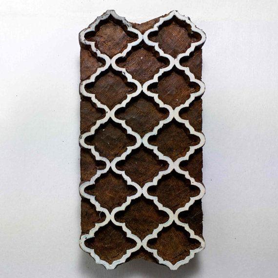 Timbro in legno marocchino stampa di DesiFabrics su Etsy
