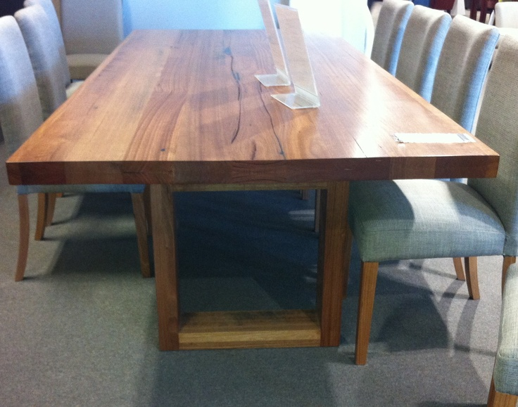 recycled timber table. It is 2400 x Made in Melbourne by York. Saw at  Inside Furniture, Gepps Cross. Also at Mile End.