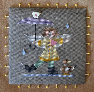 Raise The Roof Designs May Angel Cross Stitch Cross