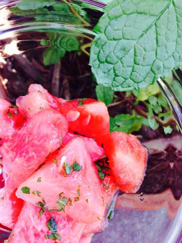 Watermelon-Lime-Mint Salad // Sweet Peas 'N Chickadees