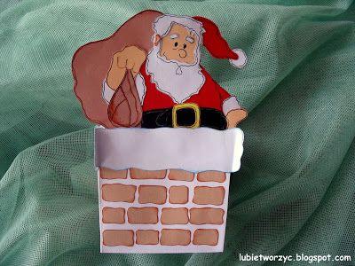 Święty Mikołaj w kominie - pudełko na drobiazgi ;)  #SwietyMikolaj #komin #zima  #dekoracja #ozdoba #lubietworzyc #DIY #craft   #handmade  #swieta   #dekoracjeswiateczne   #BozeNarodzenie   #christmas  #christmasdecoration #christmascraft #preschool #kindergarten #preschooldecoration #dekoracjeprzedszkolne #winter #SantaClaus #chimney