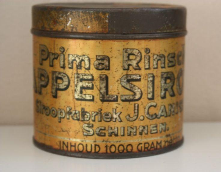 Prima Rinsche appelstroop. Canisius Stroopfabriek.  Schinnen.