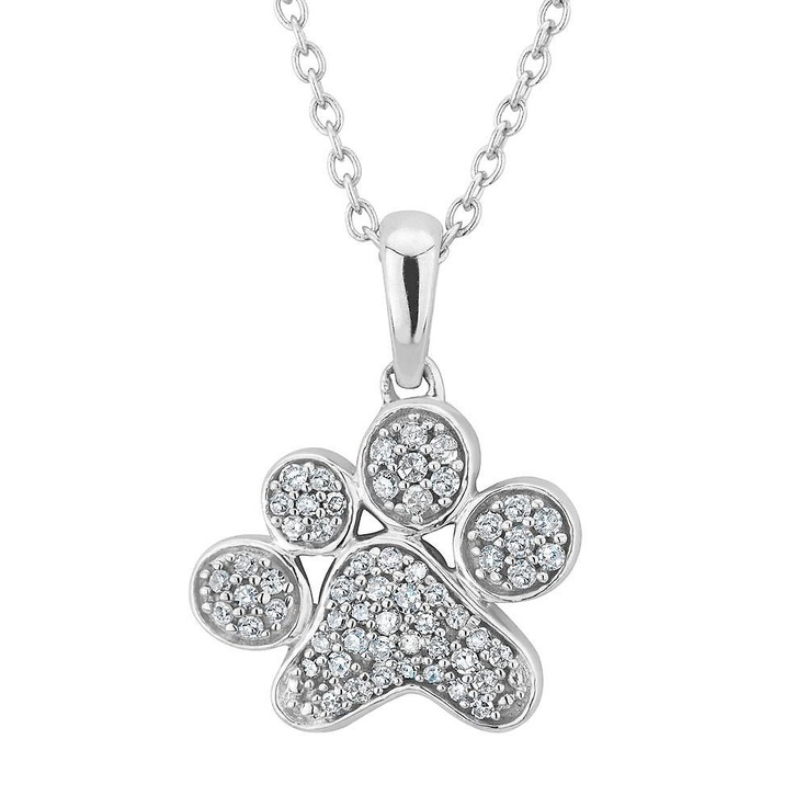 Reeds Jewelers Aspca 174 Tender Voices 174 Diamond Paw Print