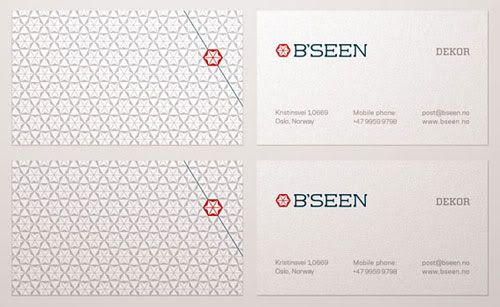 Business Card with Pattern Design 25