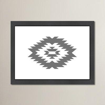 Varick Gallery Beckett Southwestern Framed Graphic Art Size: