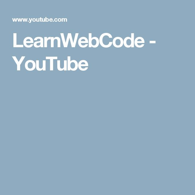 LearnWebCode - YouTube