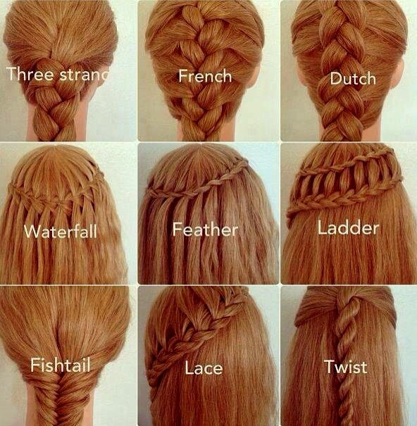 How do you do the twist, ladder, lace, feather & waterfall?!