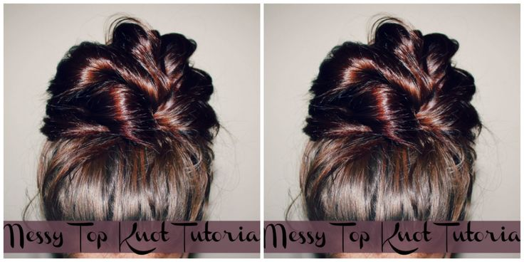 Top knots are all the rage, here is how to do a messy top knot while looking chic and having your hair hold all day. The video includes two ways to achieve r...
