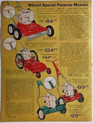 ... rotary lawn mower propelled reel <b>old</b> 1964 <b>Western</b> <b>Auto</b> Catalog <b>ad</b>
