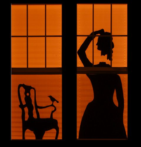 the haunted house silhouettesHalloween Silhouettes, Halloween Parties, Halloween Decor, Haunted Houses, House Silhouettes, Halloween Windows, Windows Decor, Halloween Ideas, Windows Silhouettes