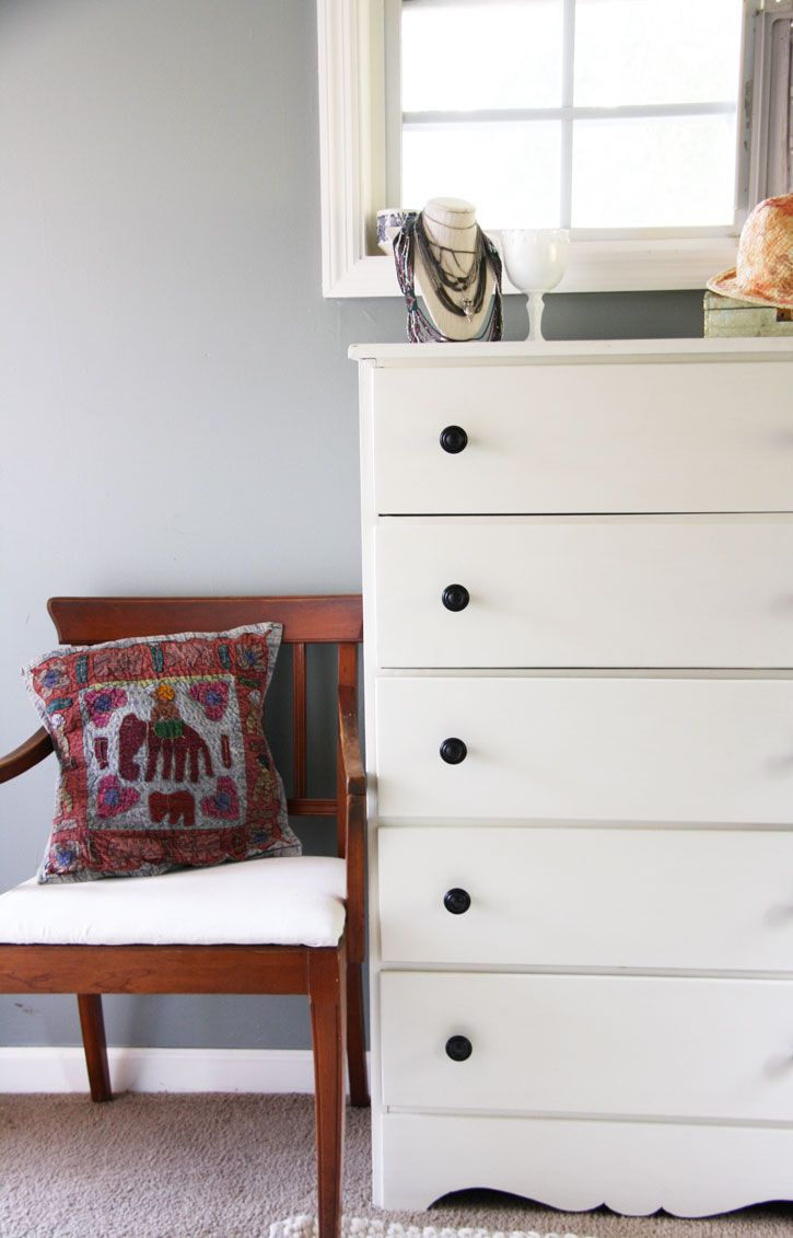 Old Dresser Redo: A before and after of this $15 dresser!