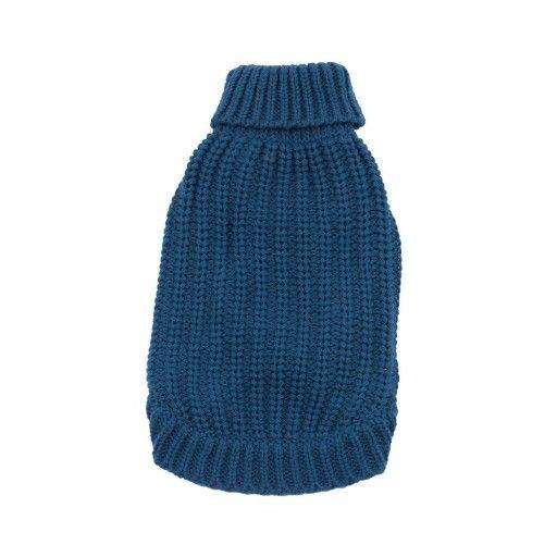 Basic Chic koiran neulepaita sininen