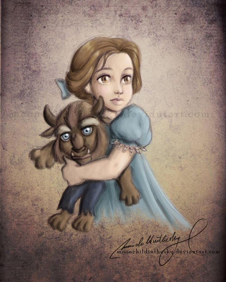Belle, and she's got a little Beast doll!!! Moon Child