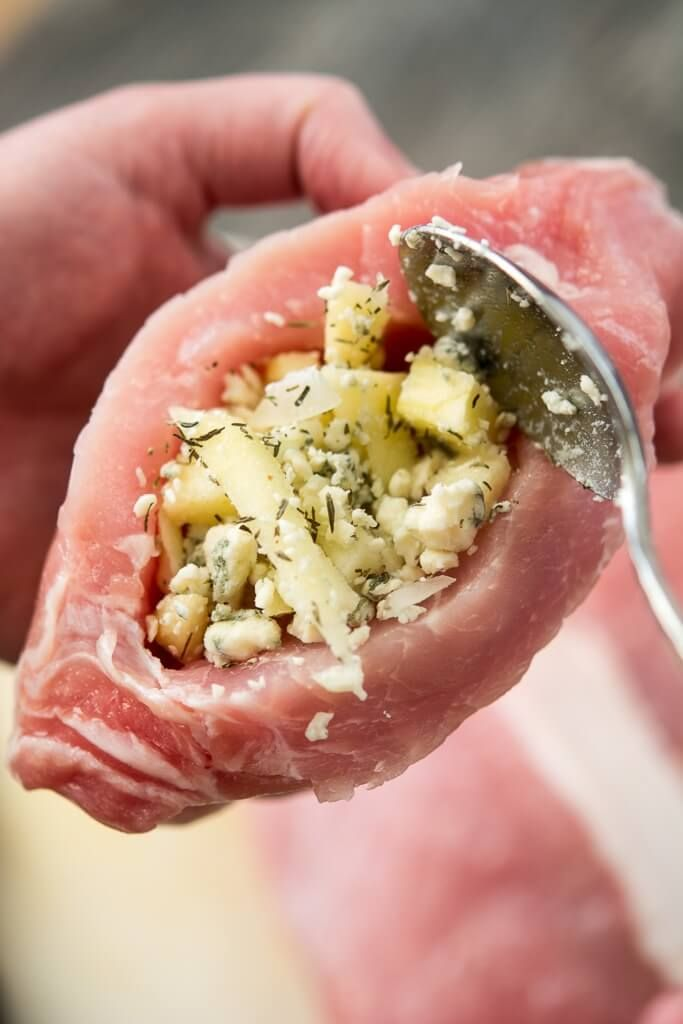 Slow Cooker Stuffed Pork Chops