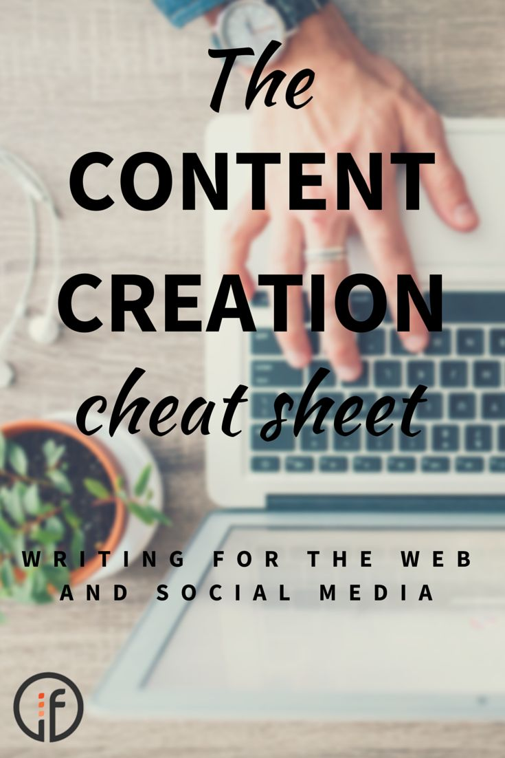 The Content Creation Cheat Sheet: do you know what kinds of posts you should be creating for social media? If you're in need of some copywriting and content help, whether it's website content or social media post curation and creation, you should check out our blog post.