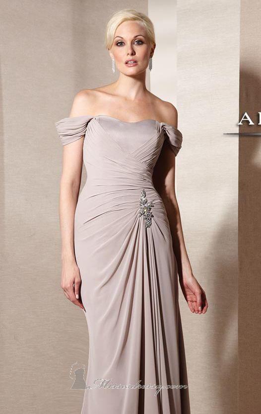 Alyce Paris 29300 Dress (http://www.missesdressy.com/shoulder-evening-gown-alyce-jean-p-24669.html) - MissesDressy.com #wedding #mob #motherofthebride #offshoulder