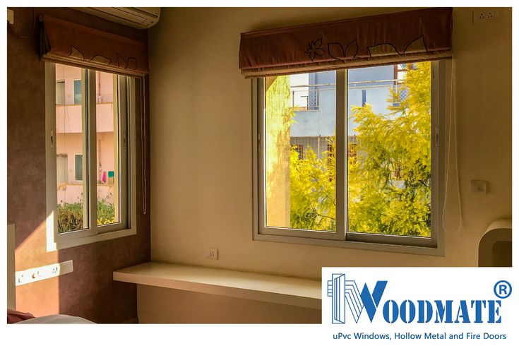 Every Bedroom needs plenty of light. Add #WoodMateWindows to your homes.  #Bedroom #windowwithaview #uPVCWindows #upvcdoors  #upvcdoorsandwindows #Doors #windows #beautifulwindows #beautifuldoors #Beautifulhomes #interiors #architecture #Bangalore #DeccanWoodMate