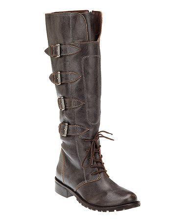 Café Battle Tall Leather Boot #zulily #zulilyfinds