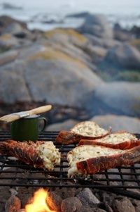 Grilled crayfish in the West Coast,  from Food from the heart. Courtesy of Lapa Publishers, photo by Adriaan Vorster