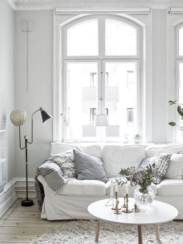 183 best u0027White livingu0027 Interior in Weiß images on Pinterest - wohnzimmer weis silber