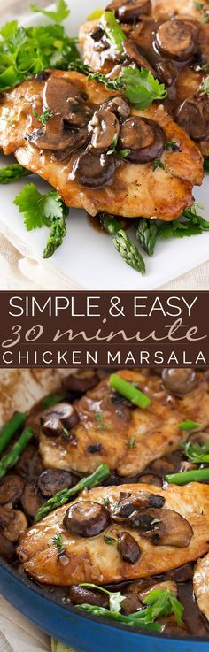 Easy Chicken Marsala | This easy chicken Marsala dish takes just 30 minutes to make! Classically savory and flavorful, this is one dish you'll love to cook time and time again! | http://thechunkychef.com