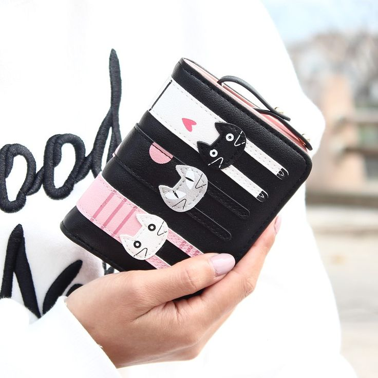 Hot Sell !New Fashion Women Cat Wallet Long Short Cartoon purse Female Card Holder Lady clutch coin purse Female zipper notecase #miniclutch #clutch #purse #wallet