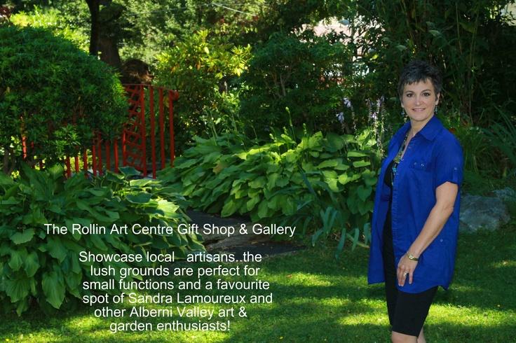 Sandra Lamoureux perusing the gardens at Rollin Art Centre.