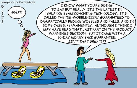 Custom Gymnastic Cartoons   Marc Jacobs - Gymnastics Cartoons